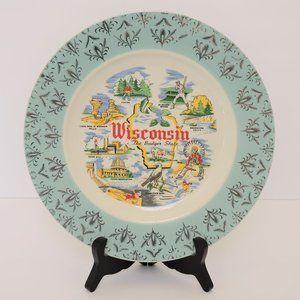Vintage US state plate Wisconsin EUC